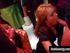 Beauty pornstars taking dicks in a club