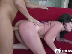 Busty babe gets her love tunnel plowed