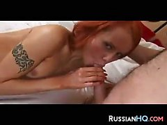 Dirty Russian Redhead Teen Gets Fucked