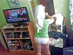 Hidden cam milf wife after shower