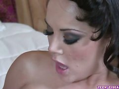 Jessica Lynn and Kristina Rose are very horny and their