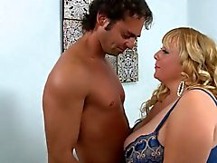 Blonde BBW-Milf with Huge Boobs - Blowjob and Fucking