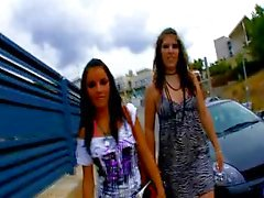 Allya & Jordane Kelly are sharing a spanish cock