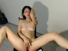 Kinky chick solo masturbation