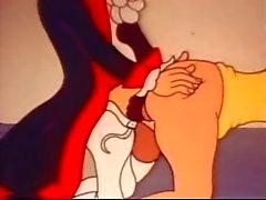 komik ve garip eski karikatür seks klipleri