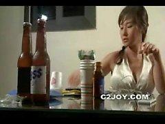 Koreanische Amateur trinken Party