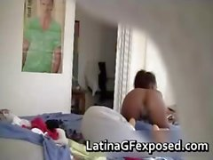Hidden cam films naked latin teen after part6