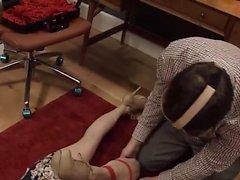 lujoso del BDSM mujerzuela follada vía anal de tocador dura