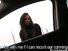Hitchhiking teen Gina Devine gets banged in the backseat
