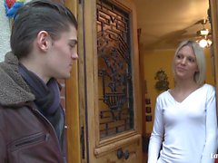 LA NOVICE - Hot French blondie gets deep ass fucking