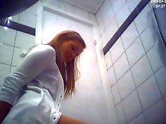 Del Brunette Amatore teenager che gabinetto culo nascosti della camma del voyeur