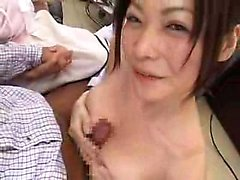 Lustful Japanese nurses put their amazing blowjob skills in