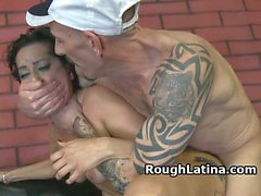 Latina Whore Bent Over And Smashed On Dirty Sofa