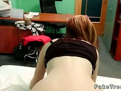Pale redhad amateur banged by doctor in fake hospital