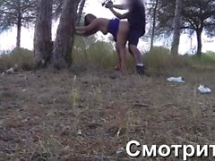 Insatiable woman fucked ex-boyfriend in a deserted forest