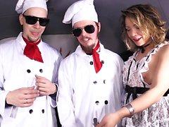 Steak And Blowjob - German Girls Offering BJ's In The Van