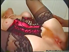 Hairy Mature Loves Dildo And Bbc