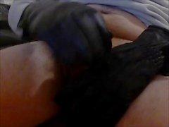 torture tied cock black big gloves big load of cumshot