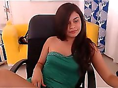 Webcam girl toying and get cum in private