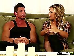 Sex therapist massage table cock jerk