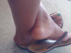 HS Friend's Candid Beautiful Ebony Feet 2