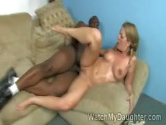 Horny college hottie Avy Scott gets smashed by huge black rod