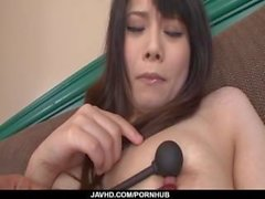 Miyu Shiina enjoys toys down her creamy Asian vagina
