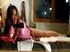 Young asian trap rubs pillow