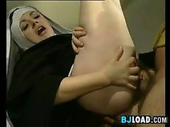 Bad Nun Gives A Blowjob And Does Anal
