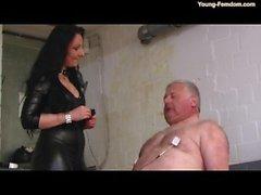 German chubby daddy basement femdom