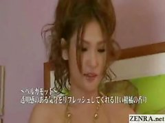 Scantily clad Japan babe gives client an ass massage