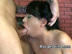 Latina Amateur Slapped Around During Rough Face Fuck