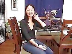 Китайская девочка Ивлин Линь Первый тайм Анальные