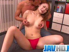 Yayoi Orkiasa looks amazing in her red panties