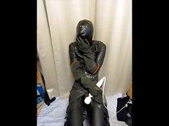 rubber man wanking