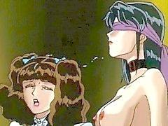 Caught hentai threesome hot licking