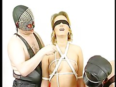 Mom gets tied up and teased