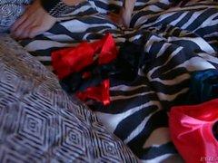 Hot Nina Elle in pink panties