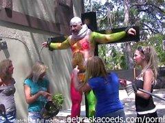 Naked Girls Paint Ball Guns for Radio Show Shock Jock Like Howard Stern