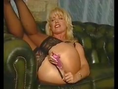 Louise Hodges Using A Pink Dildo