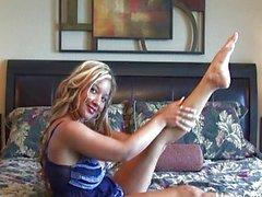 HD Hot Blonde Stripping on Webcam