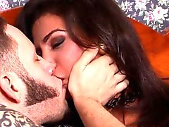 Bigtitted fishnet tgirl assfucked