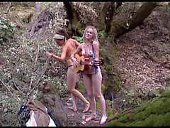 Two hippie songbirds sing uplifing song about oneness