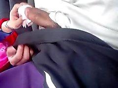 Hijabi Malay girl n lover in car sucking n fingering