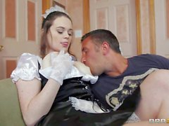 French maid Tessa Lane with huge Tits