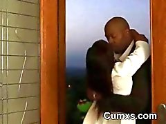Afro Cock Beyaz Undies yılında Getto Slut