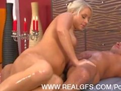 Sexy Amateur GF Gives a Hot Oil Massage and Fuck