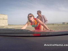 Dogging at the beach with 50 guys on my live voyeurcam