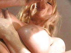 Blonde hottie gets a facial