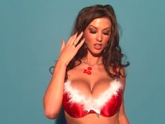 Alice Goodwin Christmas Bra Tease